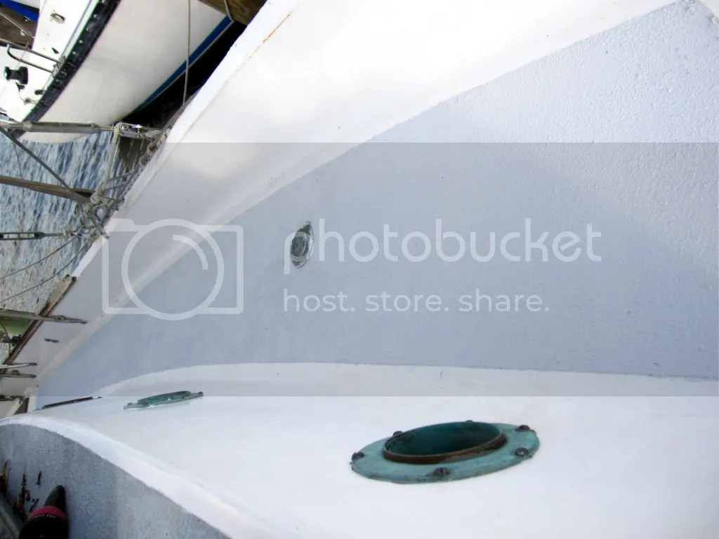 Port side deck painted with kiwigrip