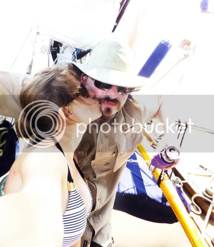 Dani kissing Tate