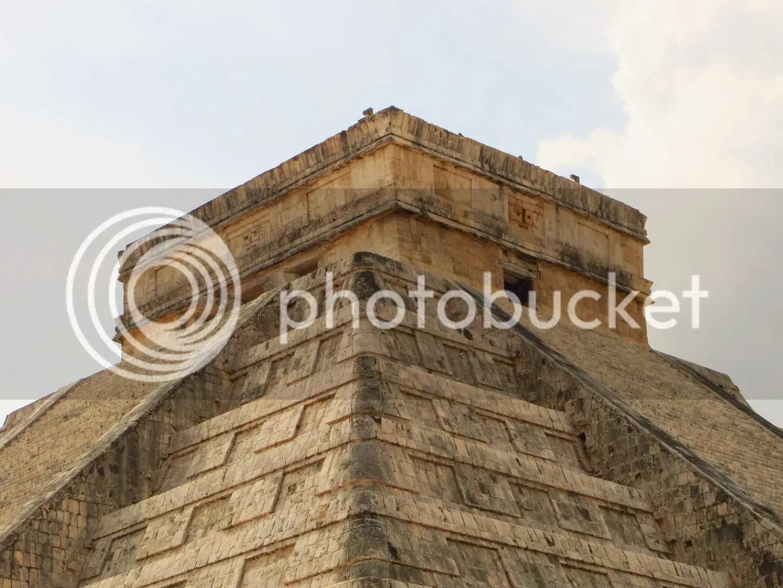 Chichen Itza Temple top close up