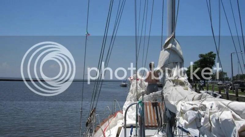 First recreational sail on Sundowner