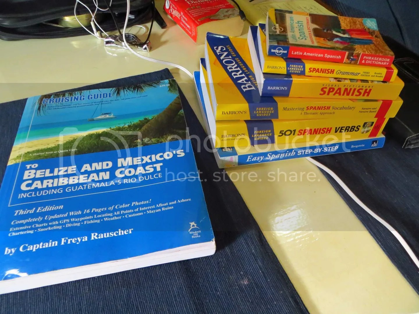 Spanish Books on the table
