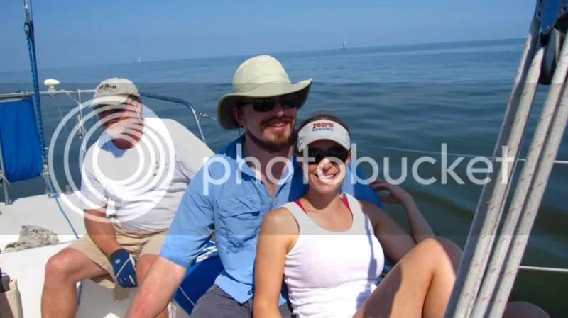 Tate and Dani during Great Lake Race