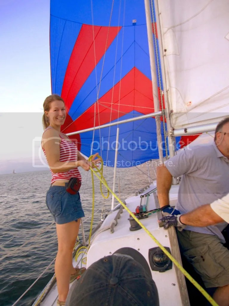 Dani flying the Spinnaker