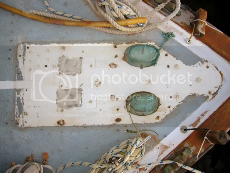bowsprit full of epoxy
