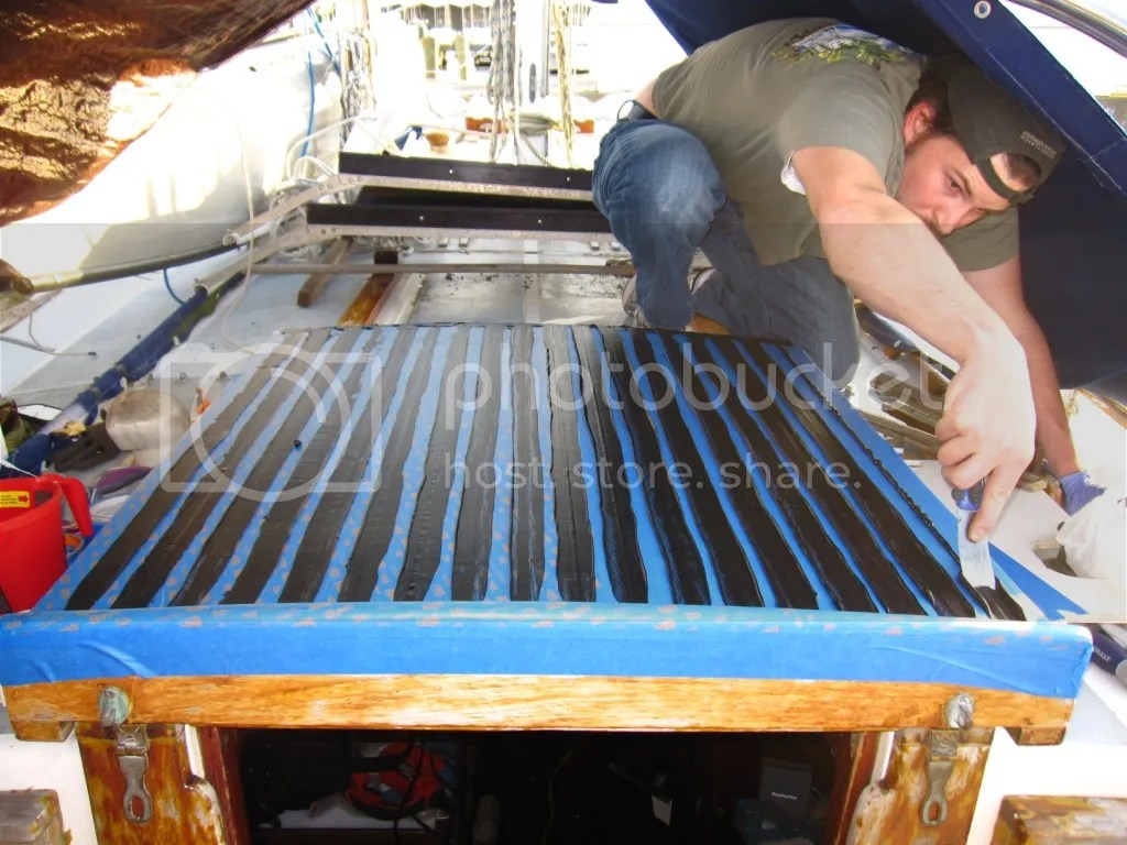 Flattening the Companionway hatch seams