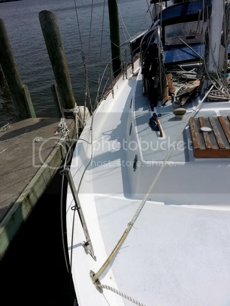 Kiwigrip starboard finished looking aft