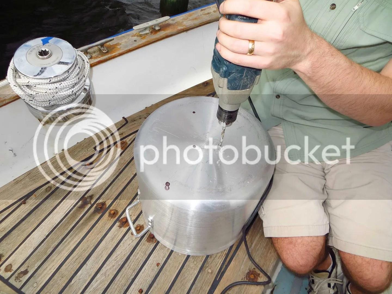 fiberglass propane tank drain holes