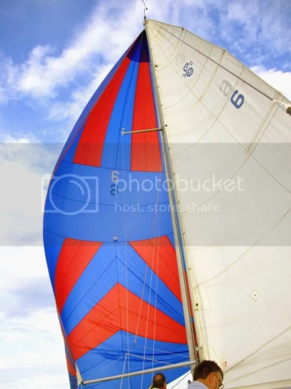 Quest's spinnaker sail
