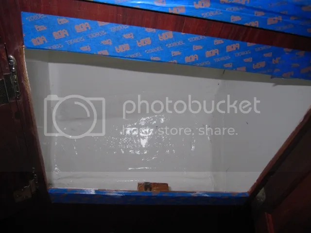 vberth cabinets with bilekote
