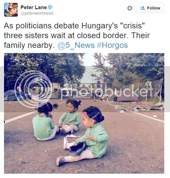 Zwillinge an der Serbisch-Ungarischen Grenze