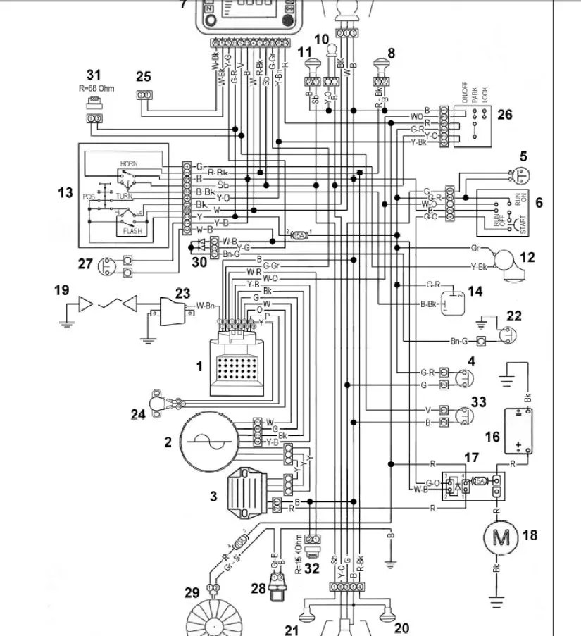Wiring Harness For Husqvarna Yth2348 Husqvarna Rz5426