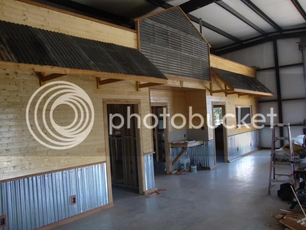 corrugated steel chair rail royal blue spandex folding covers barndominium wall ideas needed texags