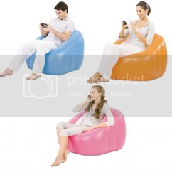 Inflatable Bubble Sofa Uk Grey Velvet Bestway Cube Single Flocked Lounge Chair Couch