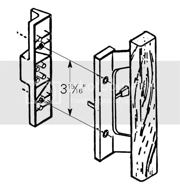 Alco 14120 Glass Door Handle