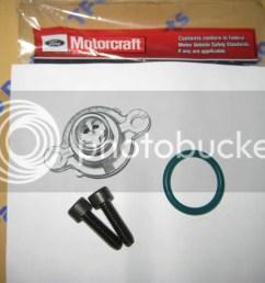 details about ford 7 3 diesel super duty fuel filter pressure relief valve cap kit unit oem [ 1024 x 768 Pixel ]