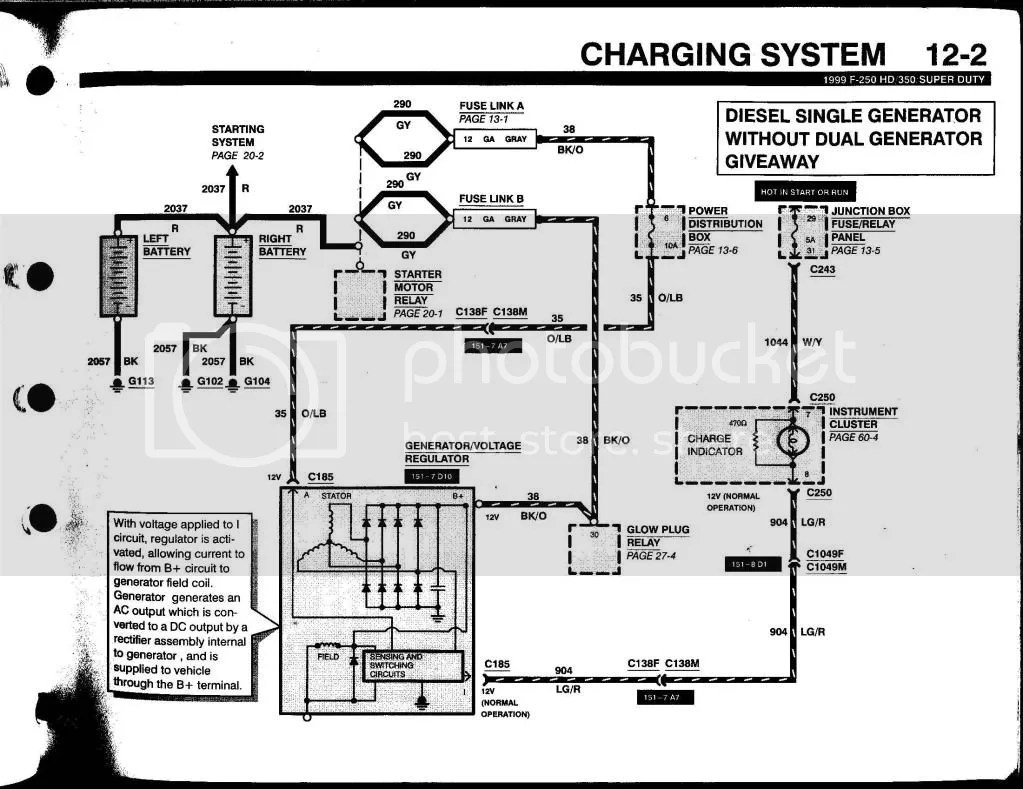 1999 Ford F250: A Wiring Diagram From The Battery To The