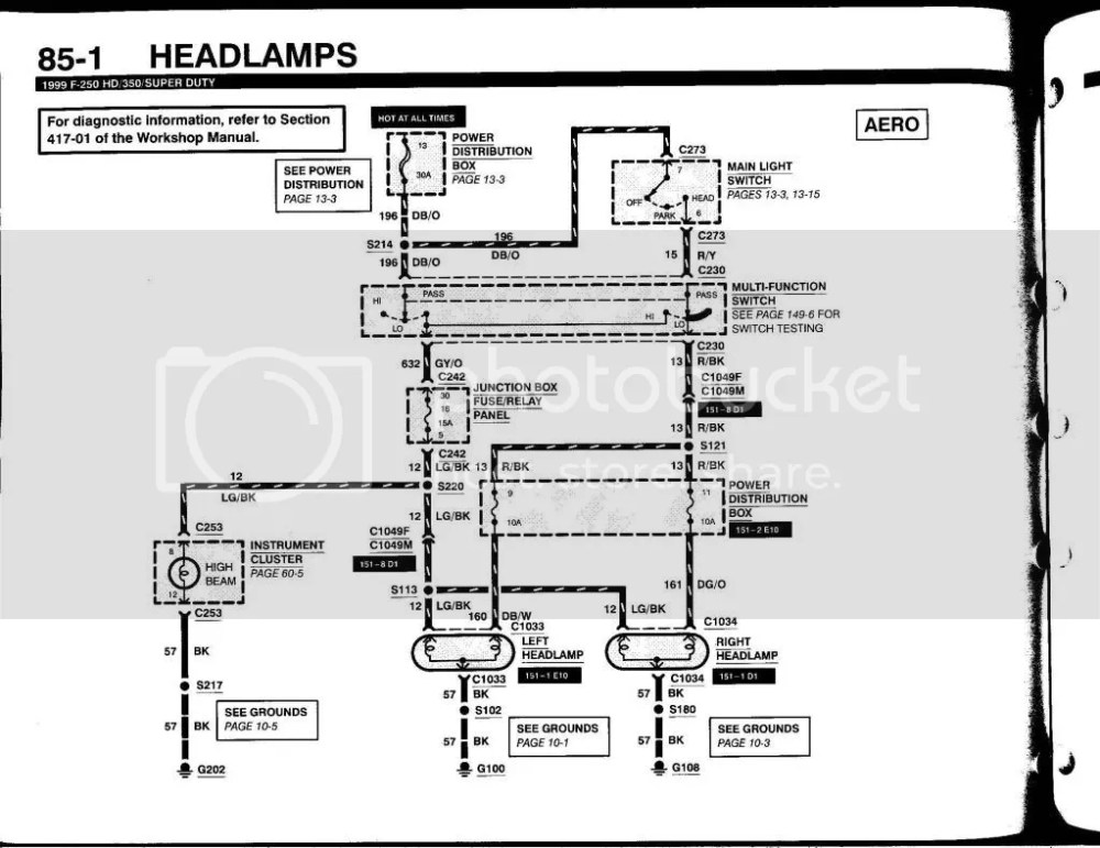 medium resolution of 2000 7 3 headlights both hi lo do not work ford truck enthusiasts basement light wiring