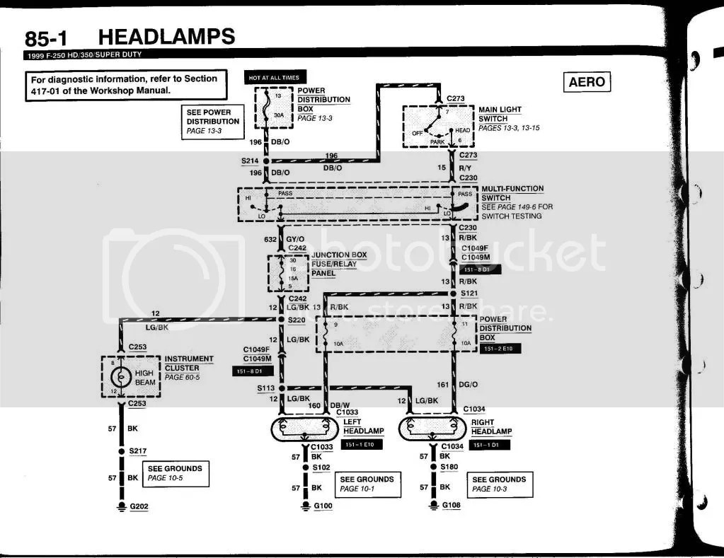 hight resolution of 2000 7 3 headlights both hi lo do not work ford truck enthusiasts basement light wiring