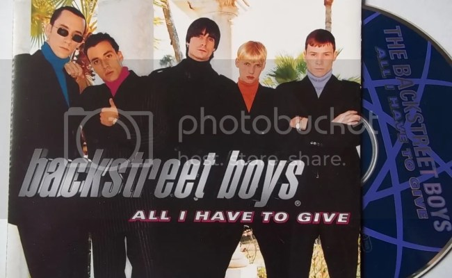 Backstreet Boys All I Have To Give Records Lps Vinyl And