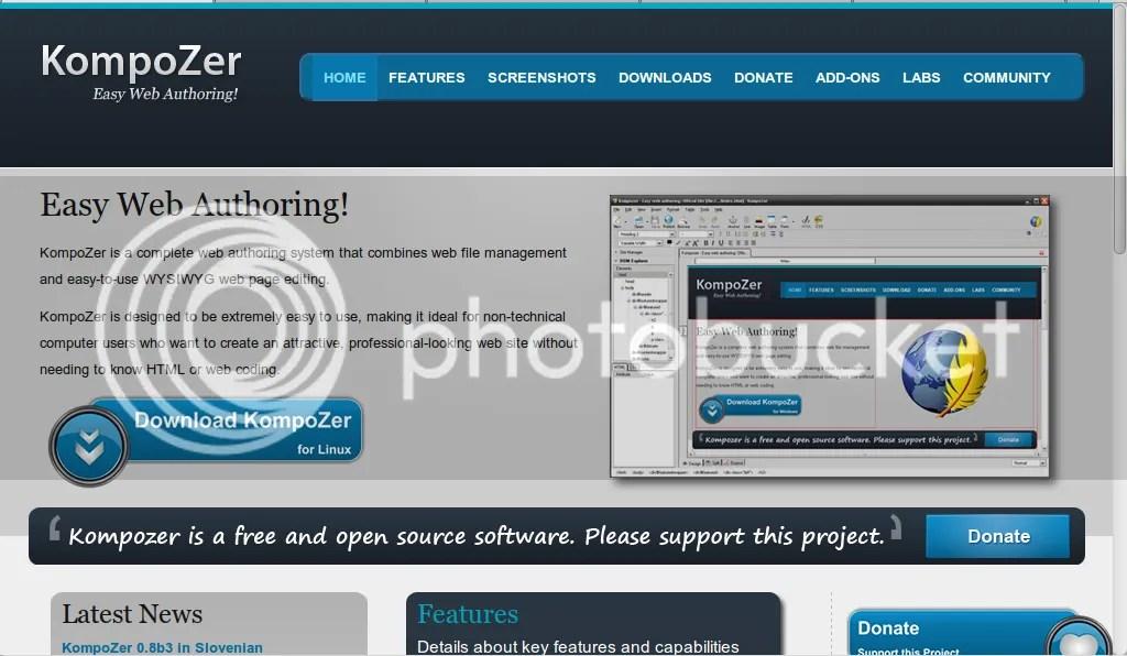 portal web kompozer.net