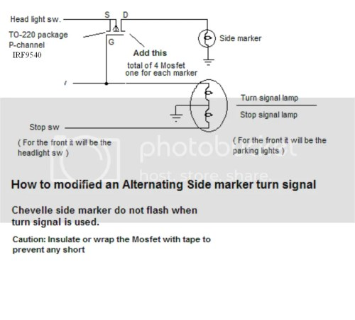 small resolution of you can have the side marker lights to flash when using the turn signal it uses a p channel mosfet to switch the lights