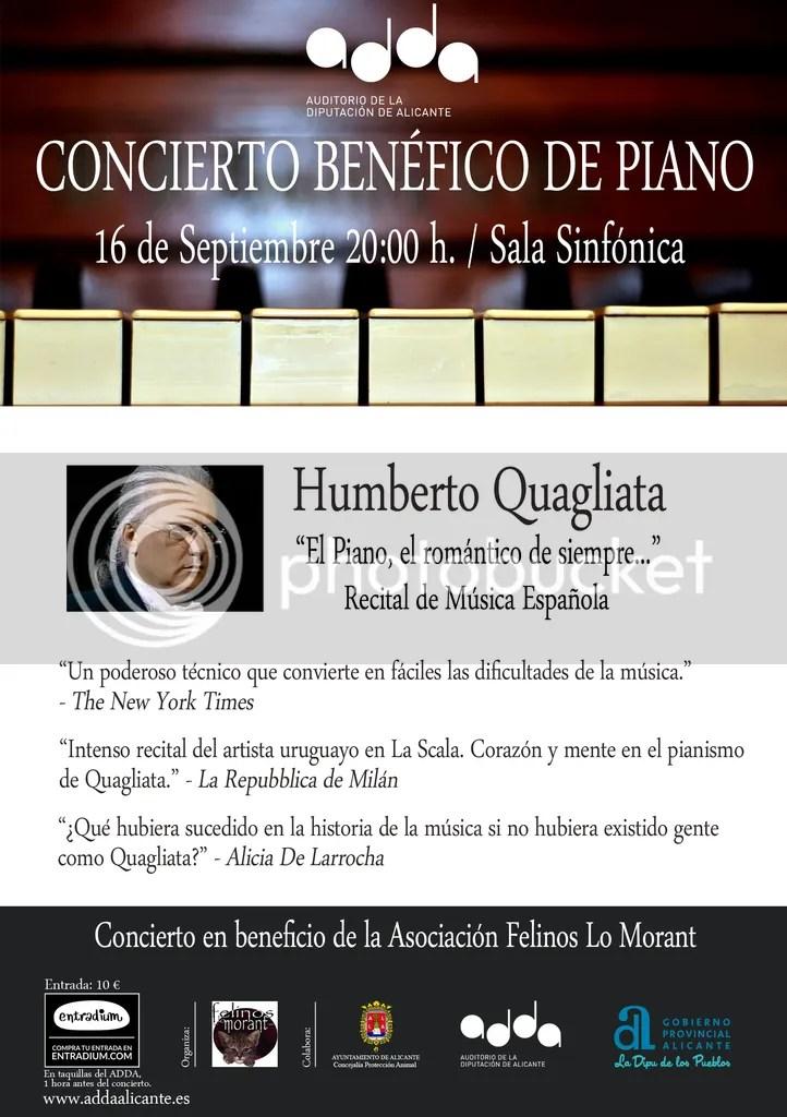 Concierto benéfico de piano de Humberto Quagliata