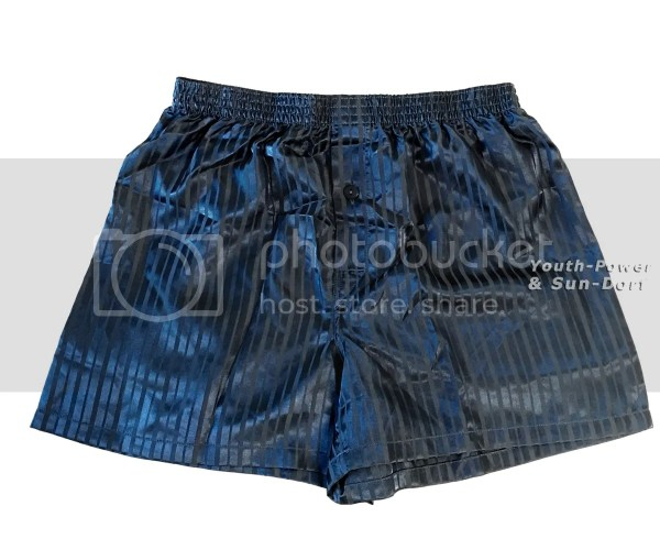 Men's Silk Satin Boxer Shorts