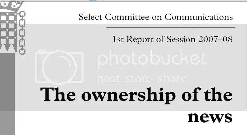 British House of Lords Report, July 2008