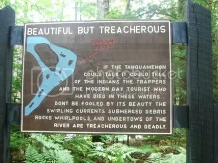 Warning at Lower Tahquamenon Falls