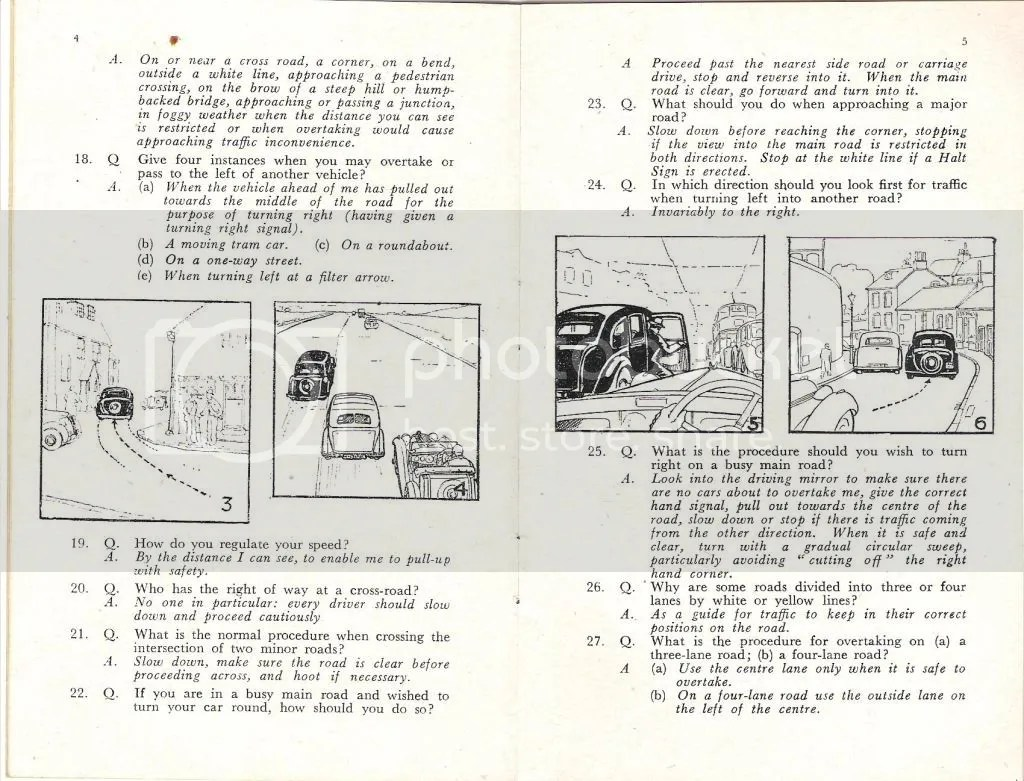 Early British driving test book and Highway Code