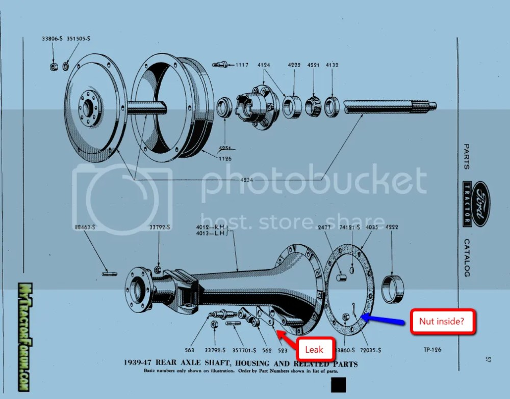 medium resolution of 1942 9n 3 point hitch arm leak mytractorforum com the mytractorforum the friendliest tractor on ford 8n rear axle diagram
