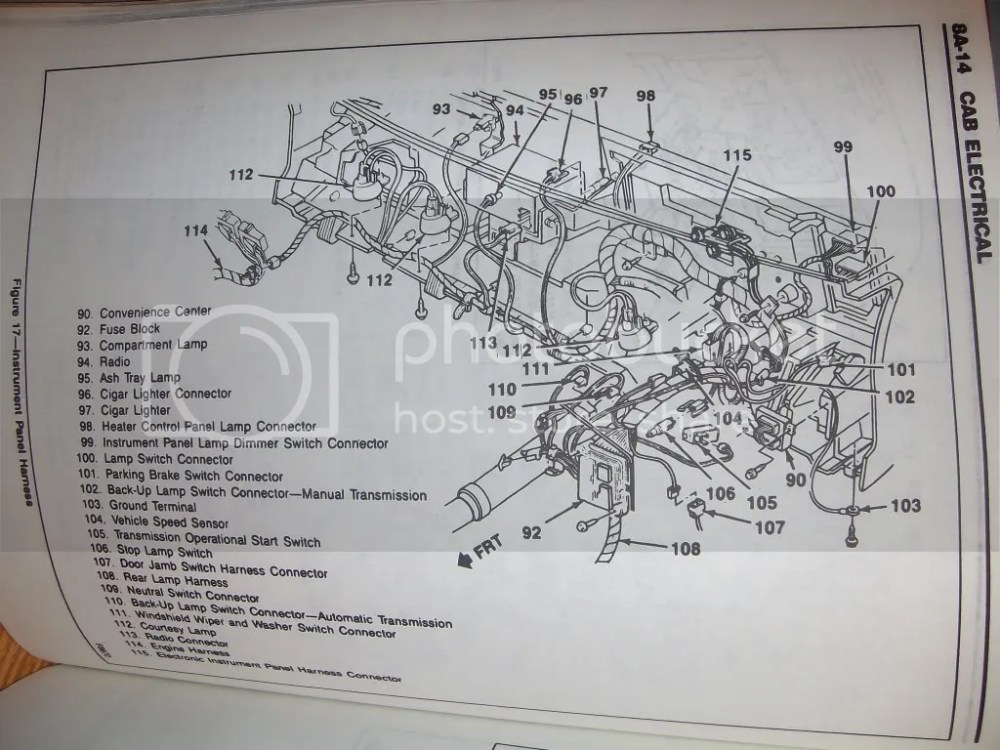 medium resolution of instrument wiring diagram for 1992 chevy blazer