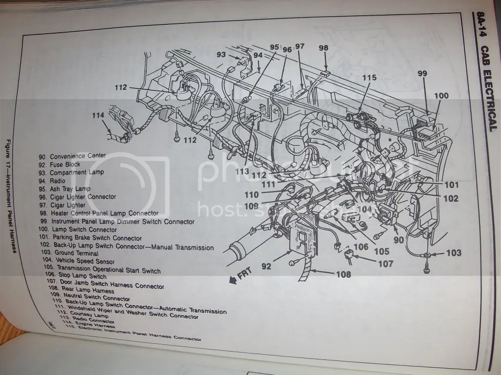 hight resolution of instrument wiring diagram for 1992 chevy blazer
