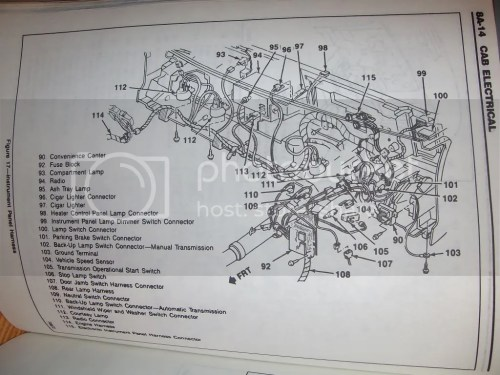 small resolution of instrument wiring diagram for 1992 chevy blazer