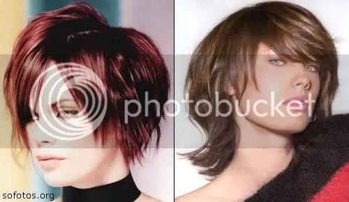 cabelo feminino curto com tintura vermelha
