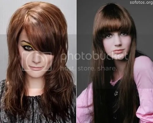 cortes de cabelo feminino com franja