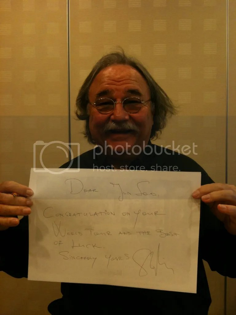 [PIC] Sylvester Levay's message to Junsu