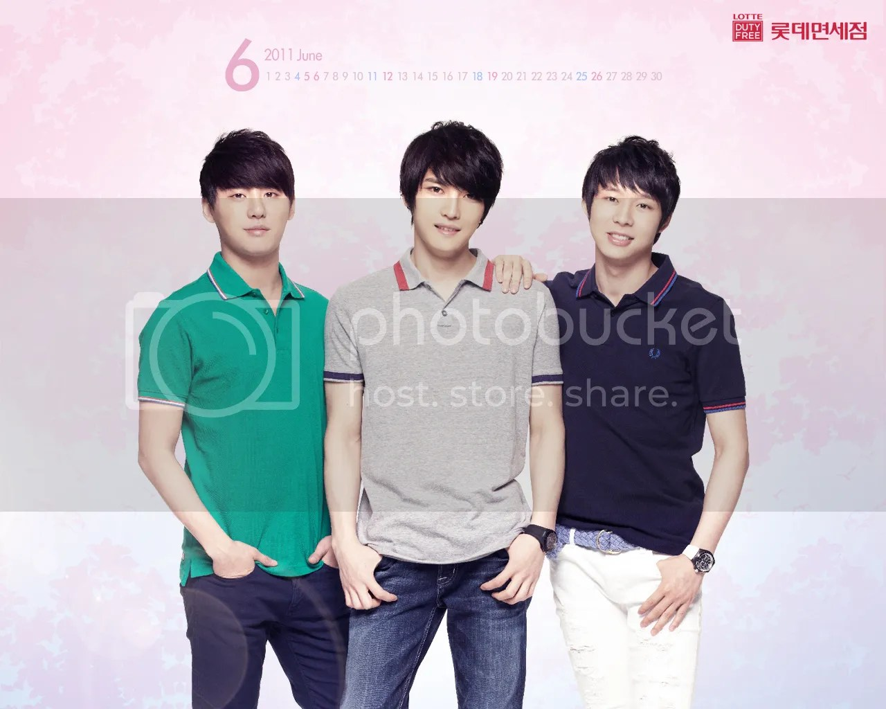 [PICS] Lotte's JYJ Wallpaper for June!