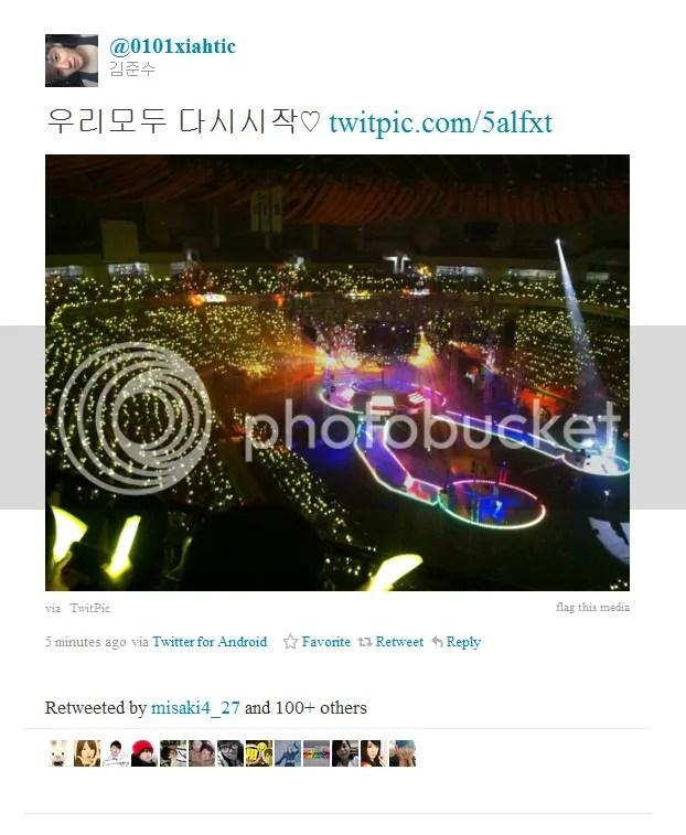 [TRANS] 110612 Junsu Tweets After The Concert Ended