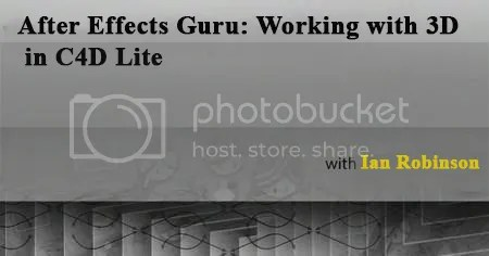 After Effects Guru Working with 3D in C4D Lite