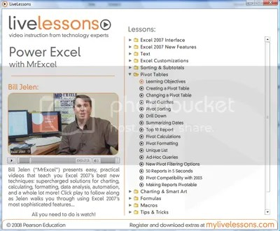LiveLessons - Complete Excel 2007
