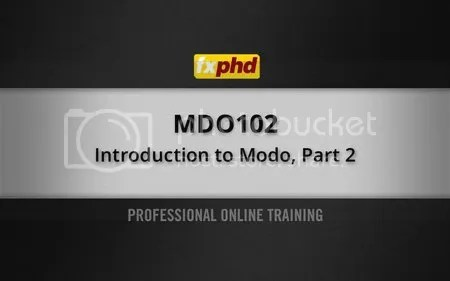 MDO102: Introduction to modo, Part 2