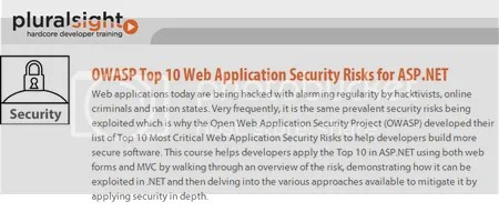 Pluralsight - OWASP Top 10 Web Application Security Risks for ASP.NET