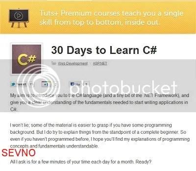 Tutsplus - 30 Days to Learn C# language