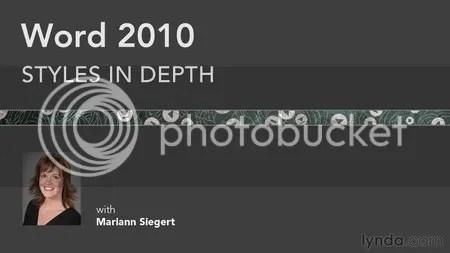 Lynda - Word 2010: Styles in Depth with Mariann Siegert