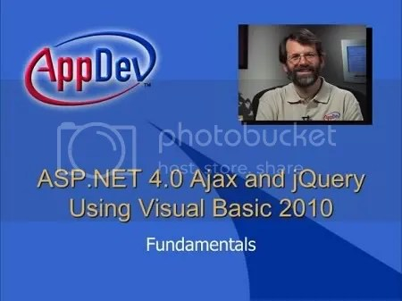 AppDev - ASP.NET Training Ajax 4.0 and jQuery using Visual Basic