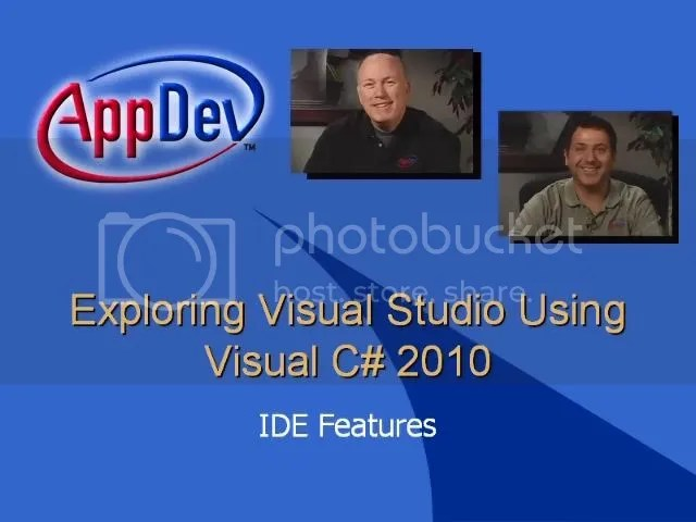 AppDev - Exploring Microsoft Visual Studio 2010 Using Visual C#