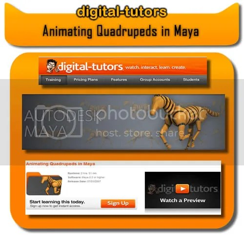 Digital Tutors - Animating Quadrupeds in Maya