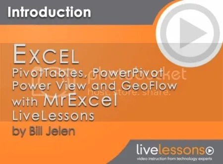 LiveLessons – Excel PivotTables, PowerPivot, Power View, and GeoFlow with MrExcel