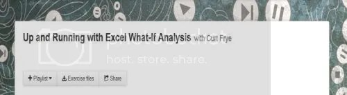 Lynda - Up and Running with Excel What-If Analysis with Curt Frye